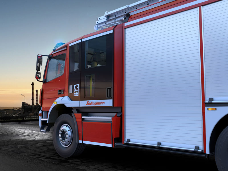 CGI Fire-fighting-vehicle